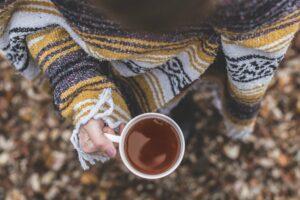 Kopje thee, contact, buiten
